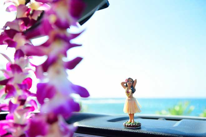 Hawaii Figur, Armaturenbrett