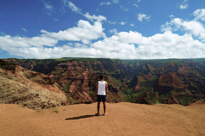 Waimea Canyon, Mann