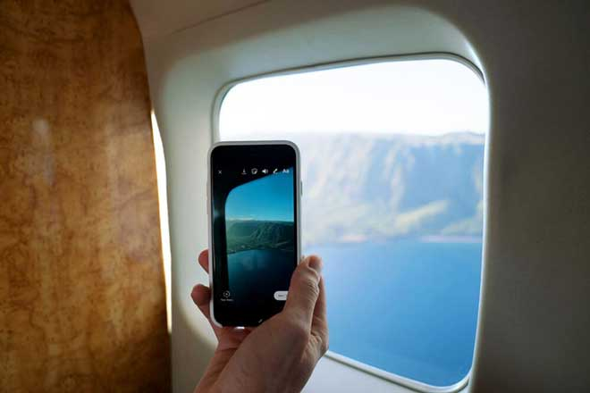 Handy im Flugzeug, Kamera