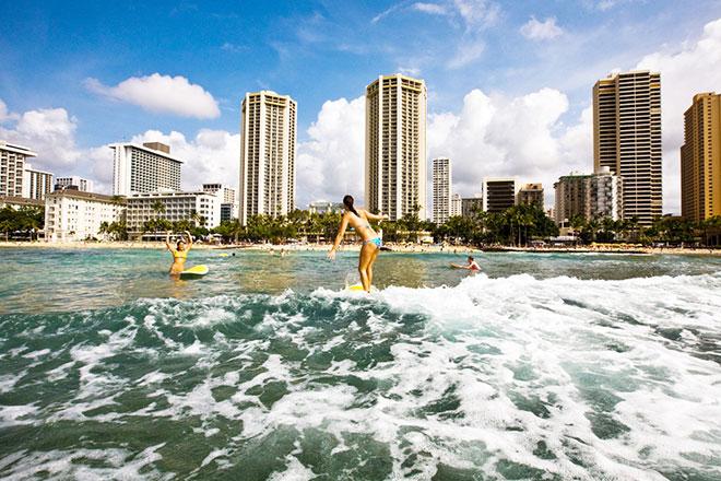 Surfer am Waikiki Beach